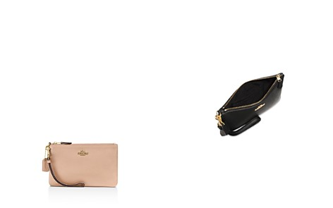 COACH Polished Pebble Leather Small Wristlet - Bloomingdale's_2