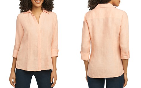 Foxcroft Three-Quarter-Sleeve Shirt - Bloomingdale's_2