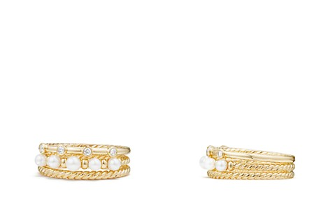 David Yurman Petite Perle Narrow Multi Row Ring with Cultured Freshwater Pearls and Diamonds in 18K Gold - Bloomingdale's_2