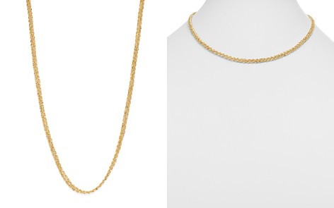 """Bloomingdale's Thick Woven Chain Necklace in 14K Yellow Gold, 18"""" - 100% Exclusive _2"""