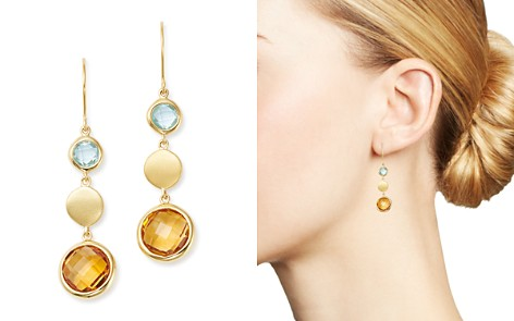 Bloomingdale's Citrine & Blue Topaz Round Drop Earrings in 14K Yellow Gold - 100% Exclusive _2