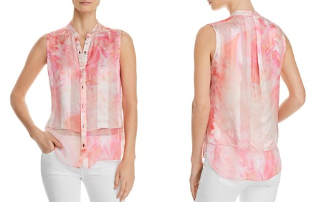 Elie Tahari Eve Tiered Semi-Sheer Silk Blouse - Bloomingdale's_2