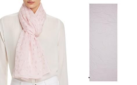 AQUA Foil Flamingo Print Scarf - 100% Exclusive - Bloomingdale's_2