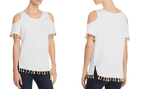 Alison Andrews Tassel-Trimmed Cold-Shoulder Top - 100% Exclusive - Bloomingdale's_2