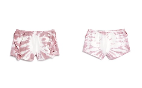 CHASER Girls' Ruffled Tie-Dye Cotton Shorts - Little Kid, Big Kid - Bloomingdale's_2