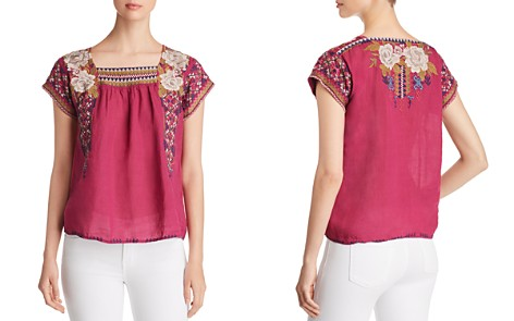 Johnny Was Ronnie Mexican Embroidered Top - Bloomingdale's_2