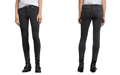 ALLSAINTS Biker Ankle Skinny Jeans in Washed Black - Bloomingdale's_2