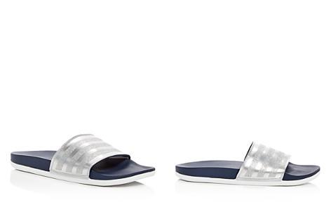 Adidas Women's Adilette Comfort Glitter 3-Stripe Pool Slide Sandals - Bloomingdale's_2