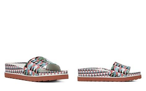 Women's Cava Printed Leather Wedge Slide Sandals - Bloomingdale's_2