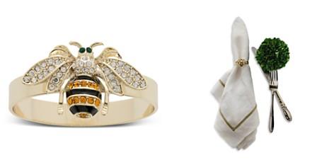 Joanna Buchanan Skinny Striped Bee Napkin Rings, Set of 4 - Bloomingdale's Registry_2