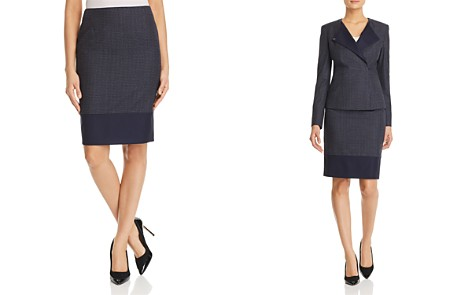 BOSS Vibena Color Block Pencil Skirt - Bloomingdale's_2