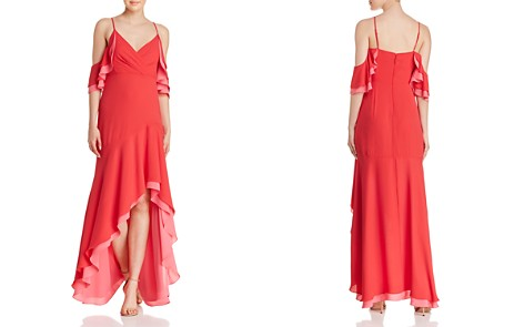 BCBGMAXAZRIA Ruffled Cold-Shoulder Gown - Bloomingdale's_2