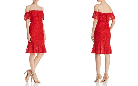 BCBGMAXAZRIA Off-the-Shoulder Lace Dress - Bloomingdale's_2