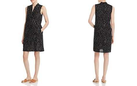 Eileen Fisher Petites Organic-Cotton Dot-Print Dress - Bloomingdale's_2