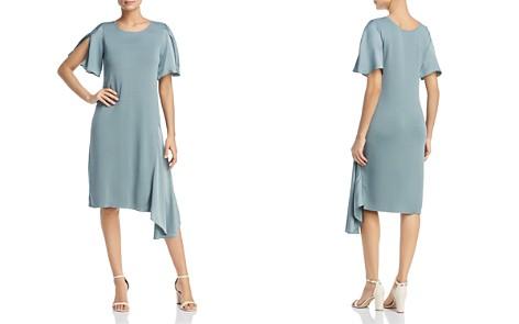 NIC+ZOE Mixed Media Asymmetric Flutter Dress - Bloomingdale's_2