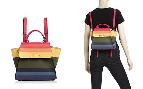 ZAC Zac Posen Eartha Iconic Rainbow Leather Convertible Backpack - Bloomingdale's_2