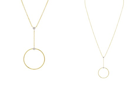 """Argento Vivo 18K Gold-Plated Sterling Silver Open Circle Y Necklace, 15"""" - Bloomingdale's_2"""
