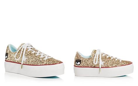 Converse Women's One Star Platform x Chiara Ferragni Glitter Sneakers - Bloomingdale's_2