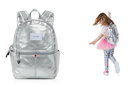 STATE Girls' Mini Kane Silver Backpack - Bloomingdale's_2