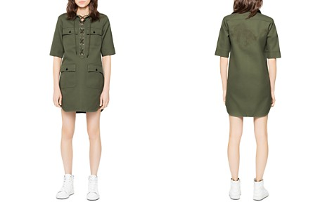 Zadig & Voltaire Record Lace-Up Cargo Dress - Bloomingdale's_2