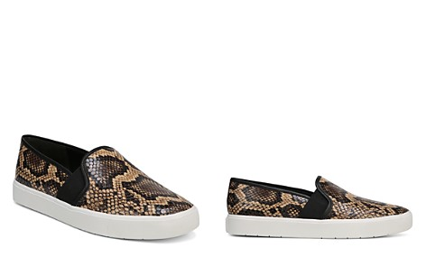 Vince Women's Blair-5 Snake-Print Leather Slip-On Sneakers - Bloomingdale's_2
