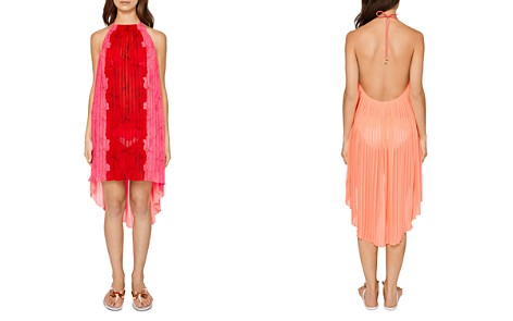 Ted Baker Macaufa Happiness Pleated Halter Dress Swim Cover-Up - Bloomingdale's_2