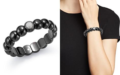 Roberto Demeglio 18K White Gold & Black Ceramic Dama Stretch Bracelet with Diamonds - Bloomingdale's_2