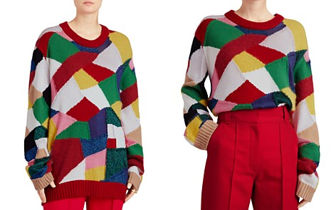 Burberry Gladey Patchwork Sweater - Bloomingdale's_2