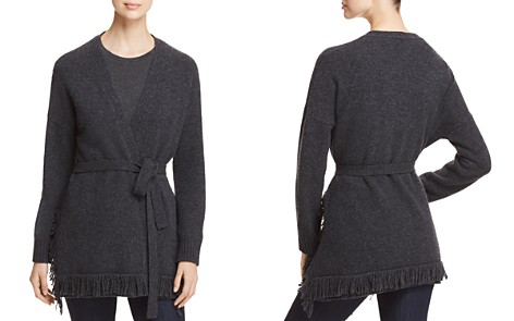 Weekend Max Mara Jajce Virgin Wool Fringed Cardigan - Bloomingdale's_2