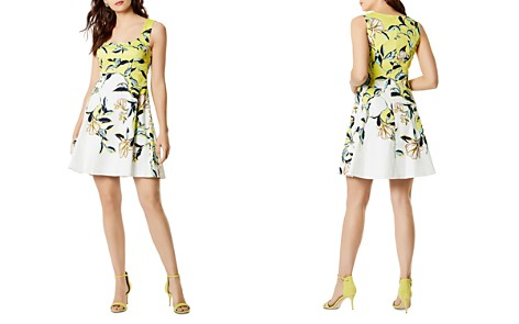 KAREN MILLEN Floral Print Fit-and-Flare Dress - Bloomingdale's_2