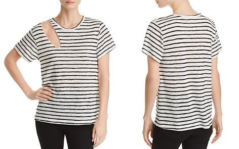 LNA Reina Shoulder-Cutout Striped Slub Tee - Bloomingdale's_2