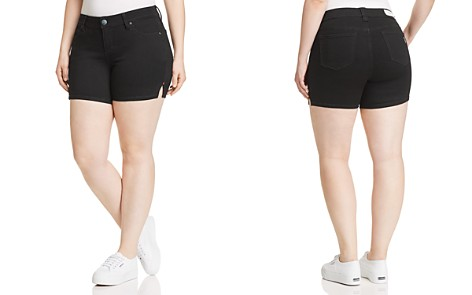 SLINK Jeans Plus Side Vent Denim Shorts in Black - Bloomingdale's_2