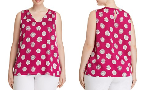 VINCE CAMUTO Plus Floral-Print Sleeveless Top - Bloomingdale's_2