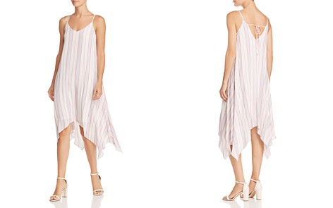 AQUA Striped Handkerchief-Hem Dress - 100% Exclusive - Bloomingdale's_2