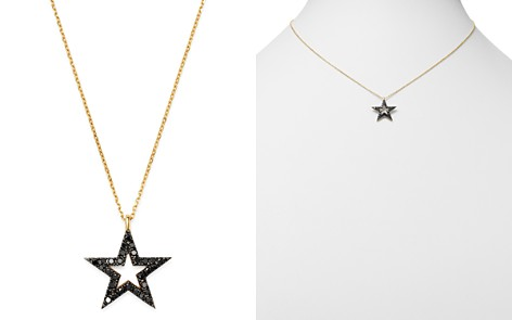 Bloomingdale's Black Diamond Star Pendant Necklace in 14K Yellow Gold, 0.25 ct. t.w. - 100% Exclusive _2