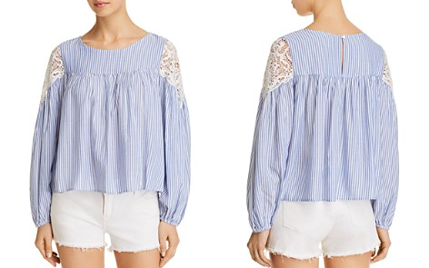 AQUA Lace-Inset Striped Top - 100% Exclusive - Bloomingdale's_2
