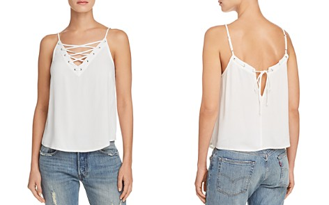 AQUA Lace-Up Camisole - 100% Exclusive - Bloomingdale's_2