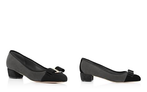 Salvatore Ferragamo Women's Vara Color-Block Suede Low Heel Pumps - Bloomingdale's_2