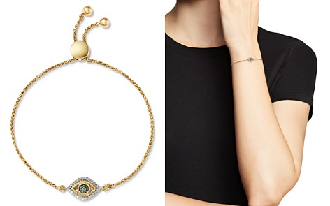 Adina Reyter 14K Yellow Gold Tiny Evil Eye Blue & White Diamond Bolo Bracelet - Bloomingdale's_2