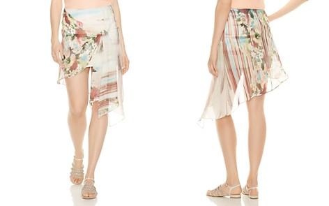 Haute Hippie French Riviera Wrap Overlay Silk Mini Skirt - Bloomingdale's_2