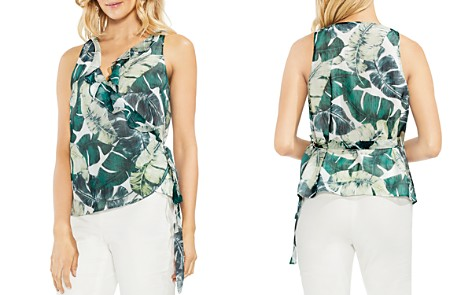 VINCE CAMUTO Jungle Palm Ruffled Wrap Top - Bloomingdale's_2