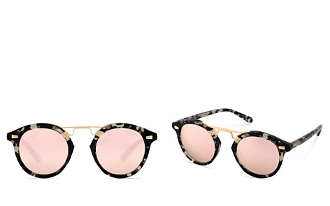 Krewe STL II 24K Mirrored Round Sunglasses, 48mm - Bloomingdale's_2