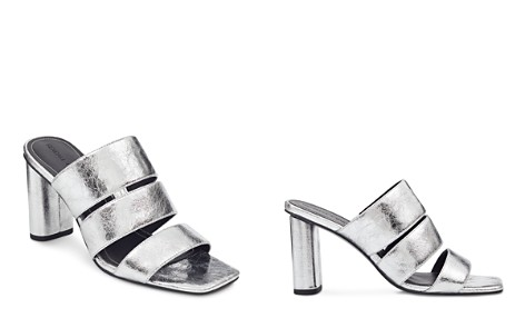 KENDALL and KYLIE Women's Leila Metallic Leather Block Heel Slide Sandals - Bloomingdale's_2