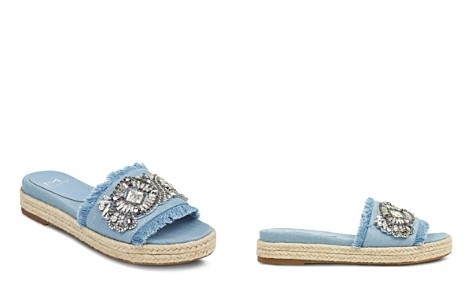 Marc Fisher LTD. Women's Jelly Embellished Chambray Espadrille Slide Sandals - Bloomingdale's_2