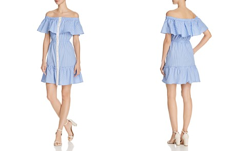 AQUA Button-Front Off-the-Shoulder Dress - 100% Exclusive - Bloomingdale's_2