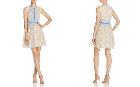 AQUA Branch Embroidered Fit-and-Flare Dress - 100% Exclusive - Bloomingdale's_2