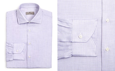 Canali Micro Check Regular Fit Dress Shirt - Bloomingdale's_2