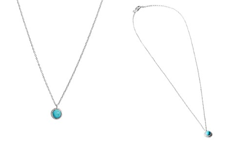 "Shinola Sterling Silver Coin Edge Turquoise Pendant Necklace, 16"" - Bloomingdale's_2"