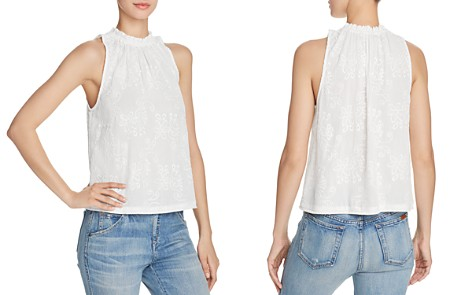 AQUA Fringed Embroidered Top - 100% Exclusive - Bloomingdale's_2