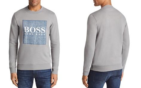 BOSS Wedford Chambray Logo Crewneck Sweatshirt - Bloomingdale's_2